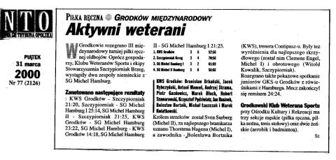 02.03.2000 - KWS CUP 2000